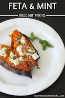 Feta and Mint Grilled Sweet Potatoes