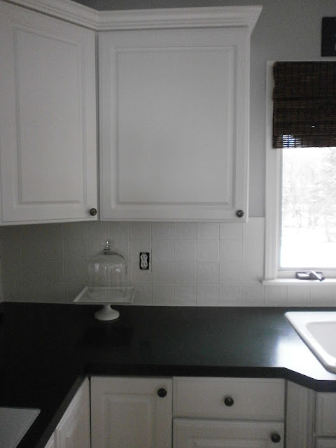 diy painting a ceramic tile backsplash