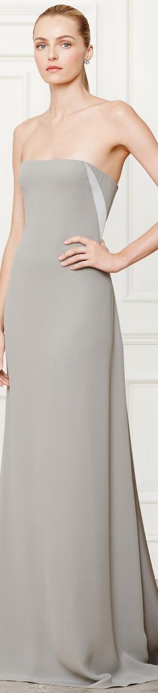 Ralph Lauren Slik Naomi Evening Gown Fall 2014 Collection
