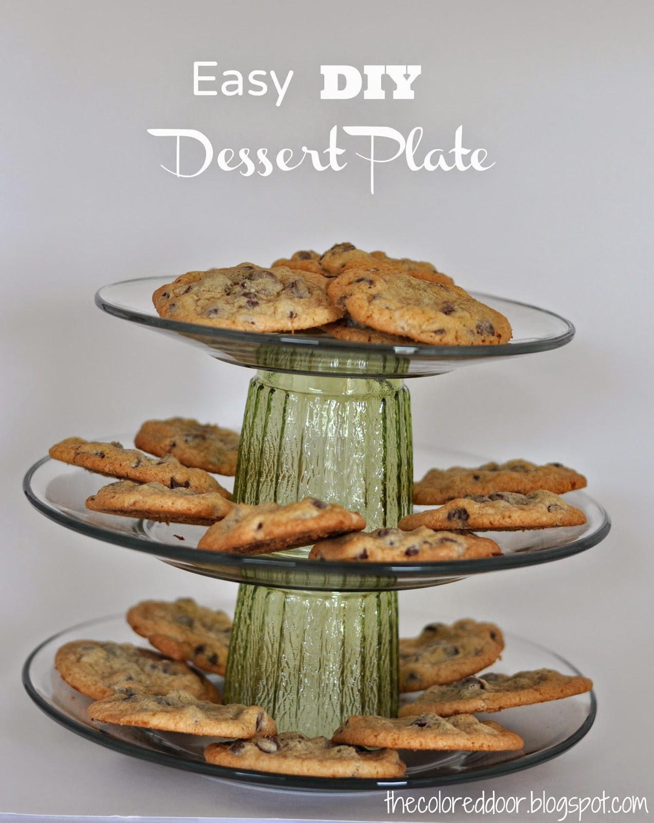 DIY Dessert Stand - the colored door