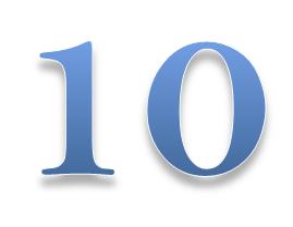 La regla del 10 para tener exito y ser feliz