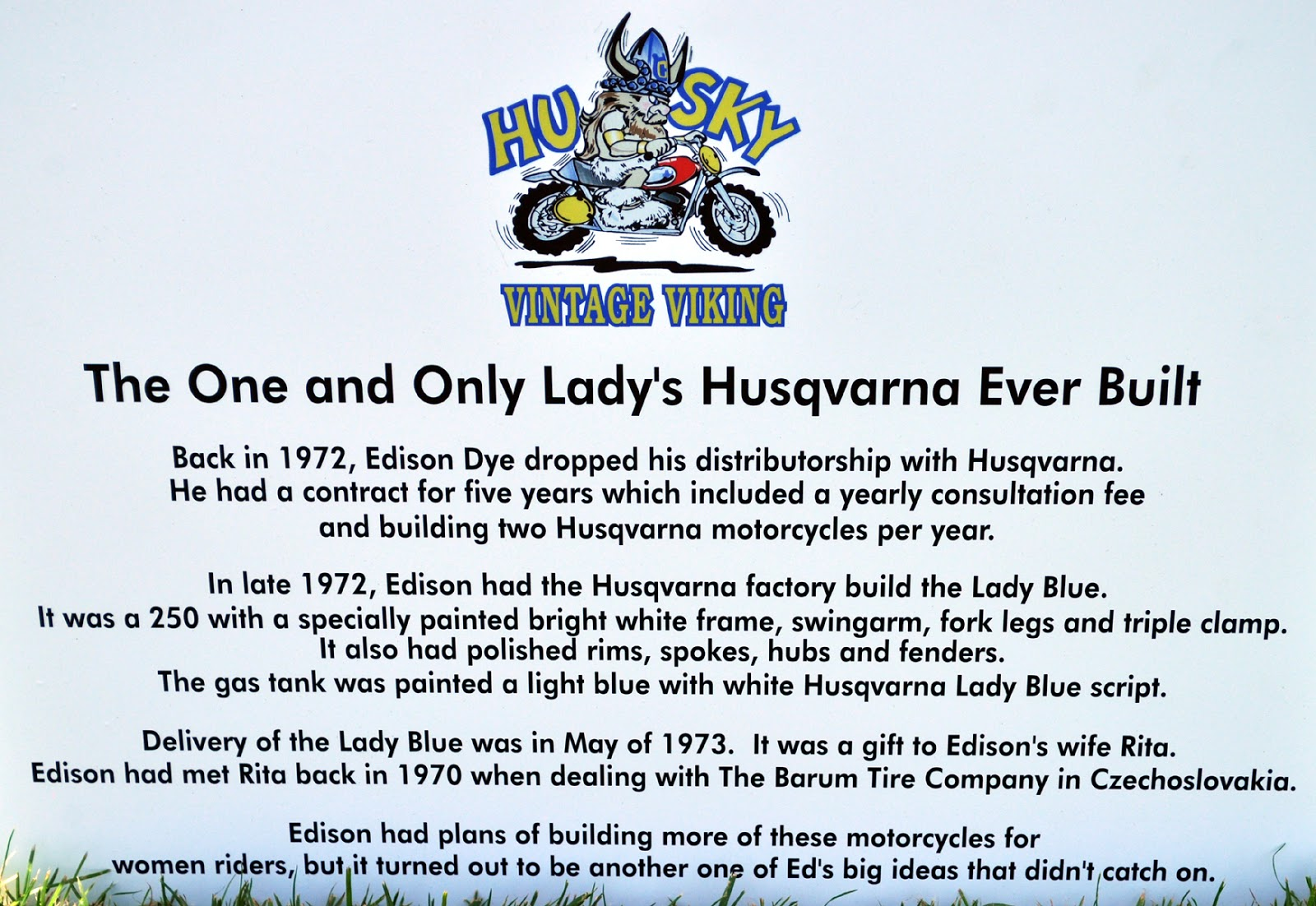 just a car guy the only ladies husqvarna ever built