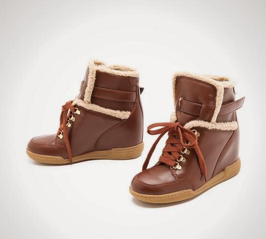 Sherpa Lined Wedge Sneakers