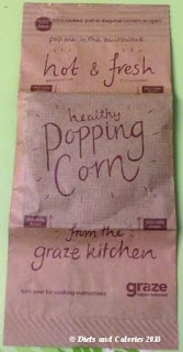Graze popcorn unpopped inside bag