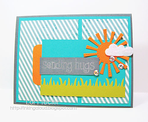 Sending Hugs card-designed by Lori Tecler/Inking Aloud-stamps and dies from Lawn Fawn
