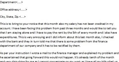 salary demand letter