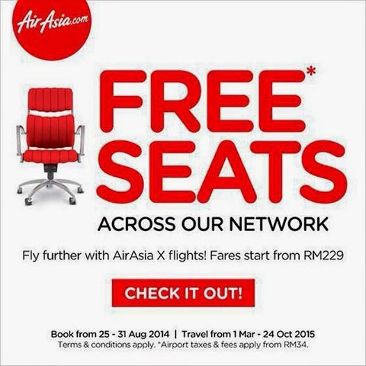 My AirAsia Free Seats !