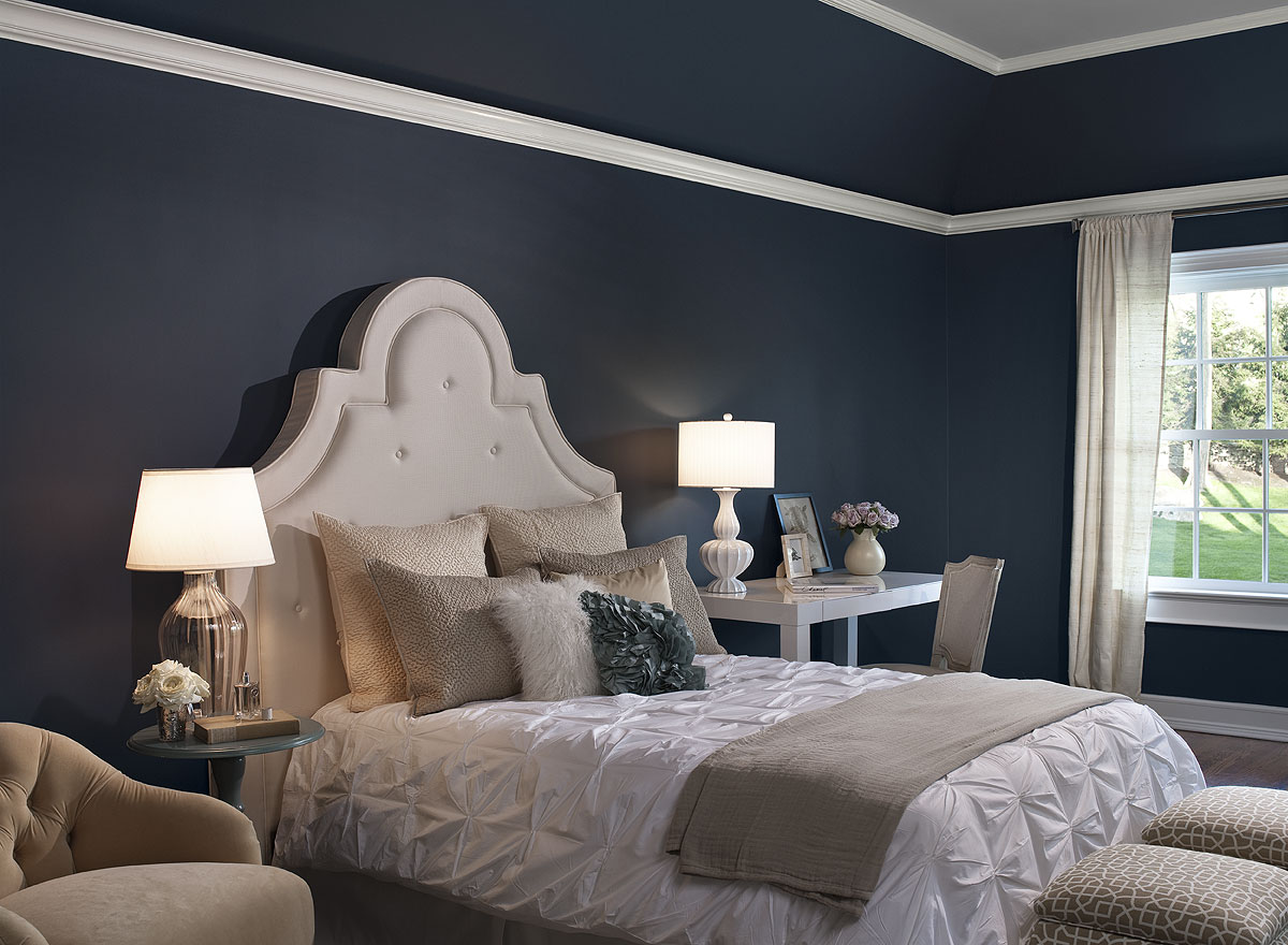 dark blue rooms ~ peeinn