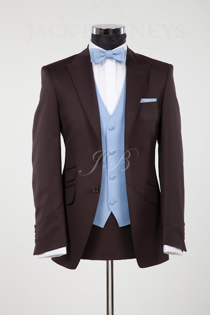brown wedding suit, vintage wedding suit hire, lounge suit hire chocolate brown wedding suit