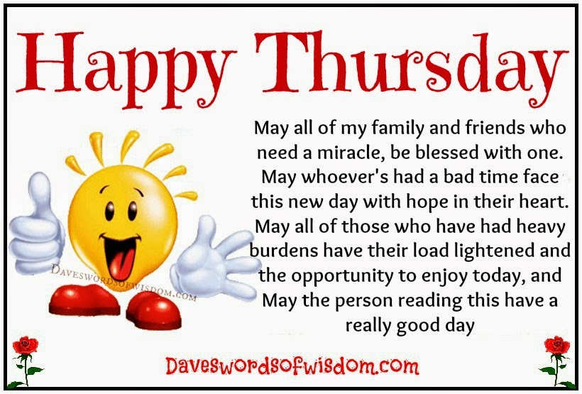 Daveswordsofwisdom.com: Have a Happy Thursday Quotes About Daughters Love