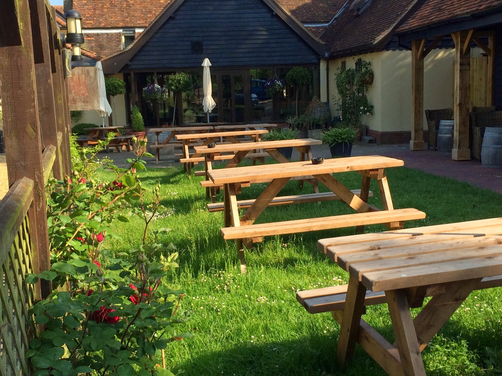 The plough at great chesterford summer garden for Summer garden and bar