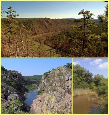 Montañas Ouchita + Montañas Wichita + Rio Washita