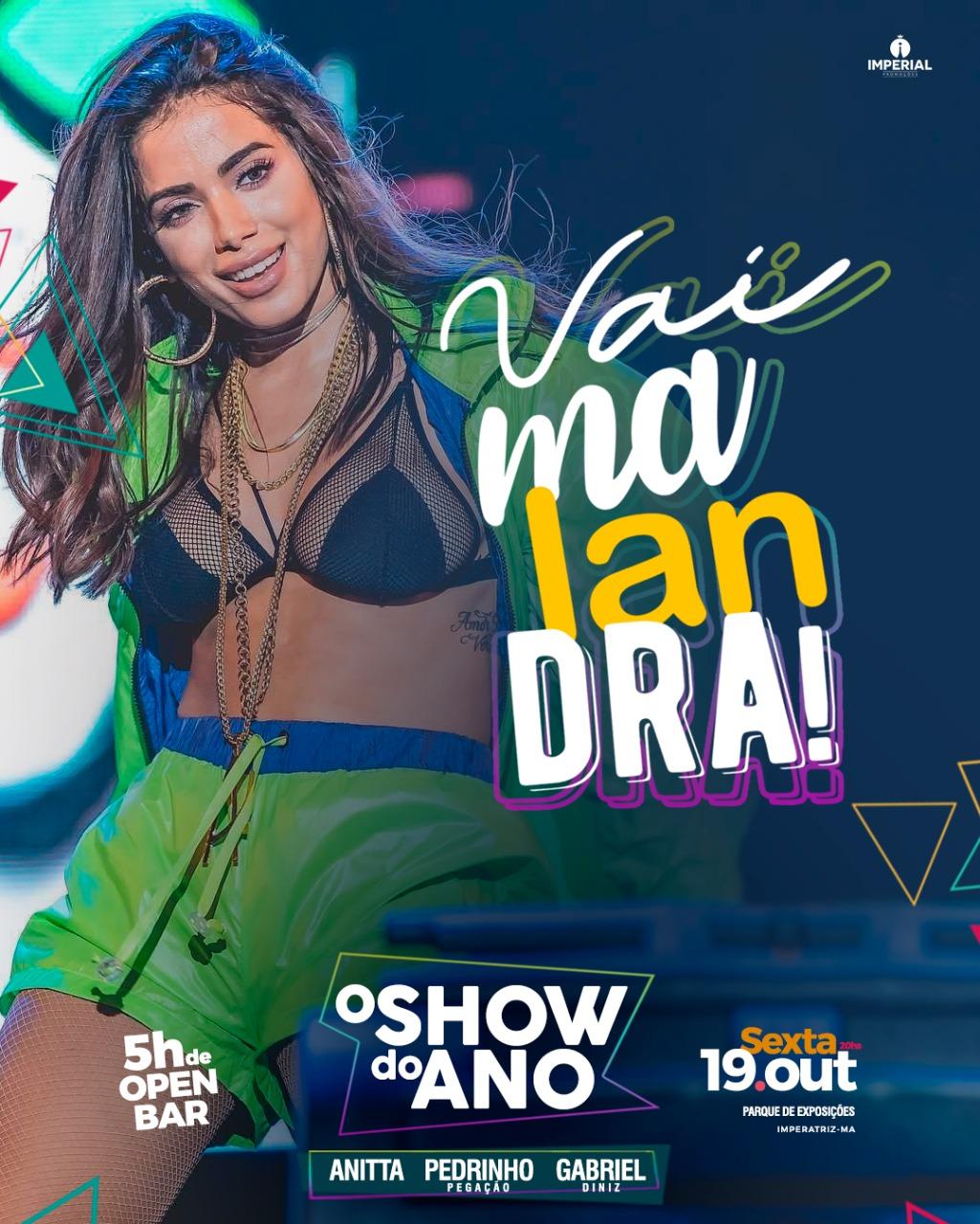 SHOW DA ANITA - DIA 19/10