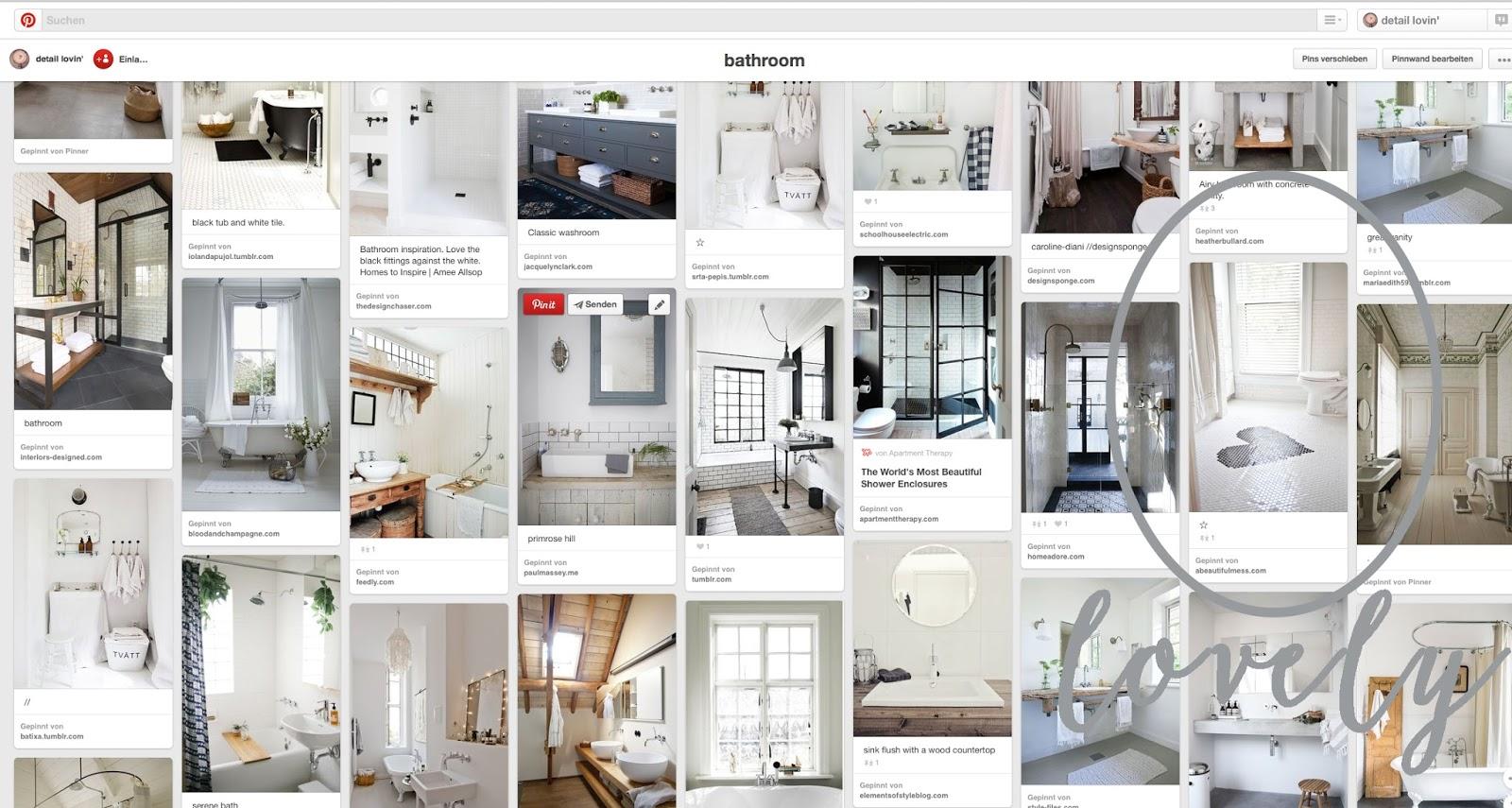 Pinterest-Inspiration für's Bad