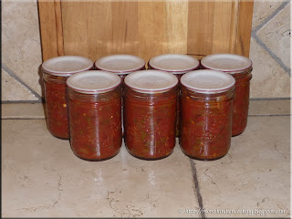 home canned picante sauce