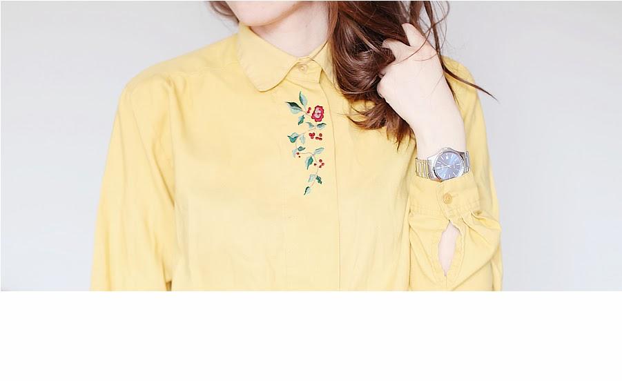 stylizacja blog ootd second hand koszula