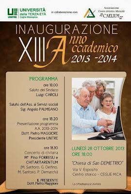 INAUGURAZIONE ANNO ACCADEMICO 2013-14