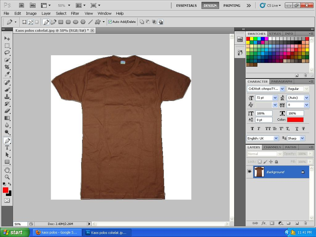 create at shirt template