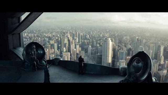 man of steel general zod ship above metropolis