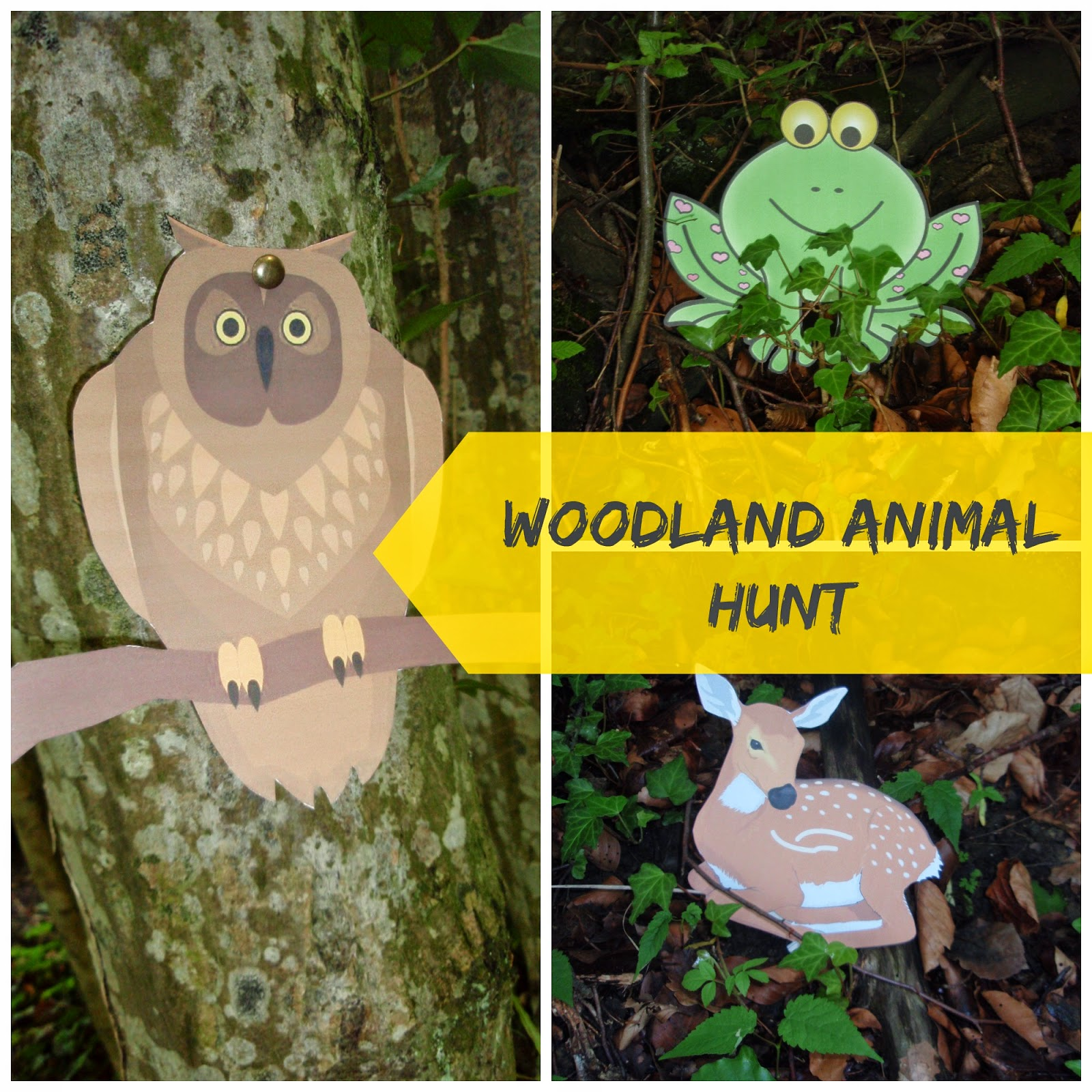 Bottle brush woodland animals - Filename Woodland Animal Hunt Jpg