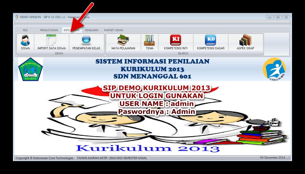 Aplikasi Demo SIP K-13