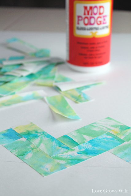 Modern Watercolor Art with Mod Podge