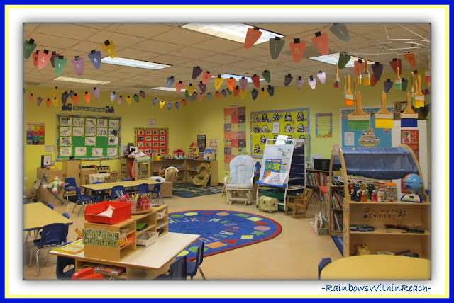 Preschool Classroom Set-UP (Classroom Decor RoundUP at RainbowsWithinReach)