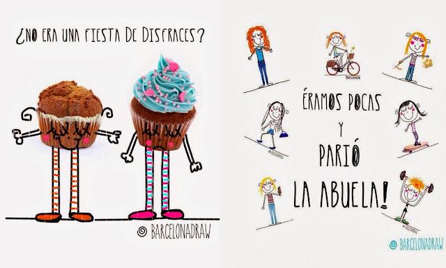 Ilustraciones alegres BarcelonaDraw