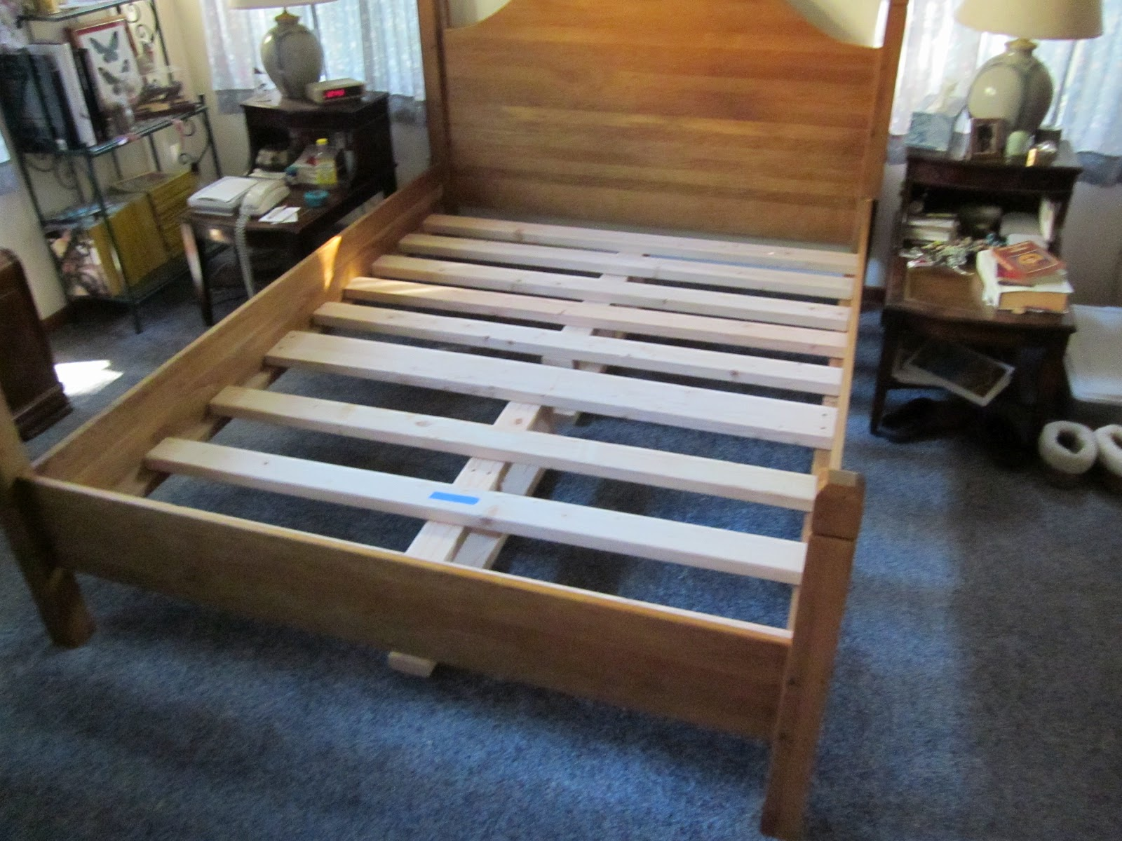 white oak bed frame slats