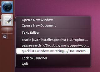Unity - switching between windows via quicklists