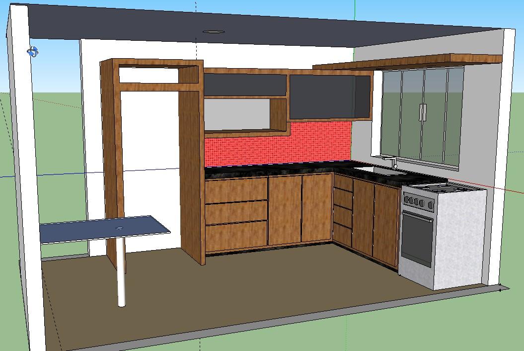 Cozinha planejada sketchup v rios desenhos for Mobilia para sketchup 8