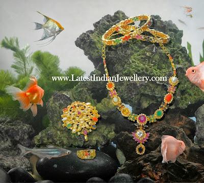 Complete Navaratna Jewellery Set