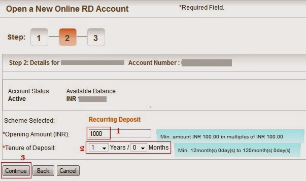 Bank of Baroda Open New RD Account