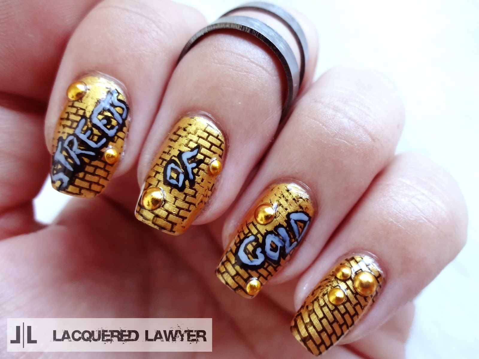 Lacquered Lawyer Nail Art Blog Streets Of Gold