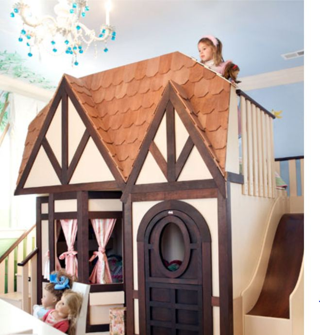 This Tudor Style Cottage Is A Complete With A Playhouse And Sleeping