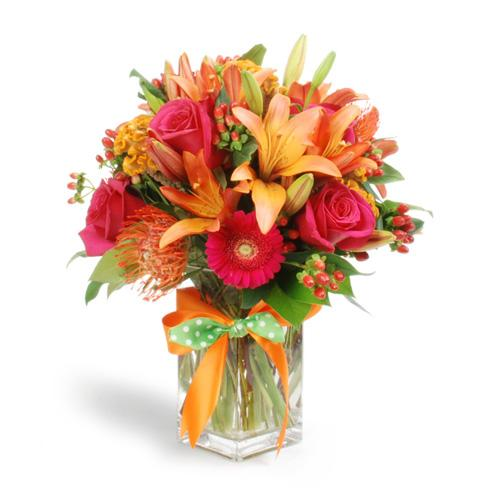 Best flower arrangements and designs red orange and green Floral creations