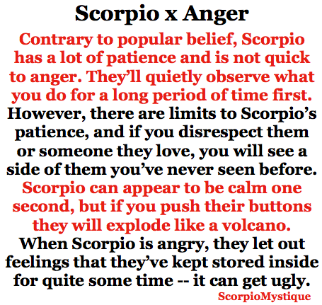 how to get rid of a scorpio man