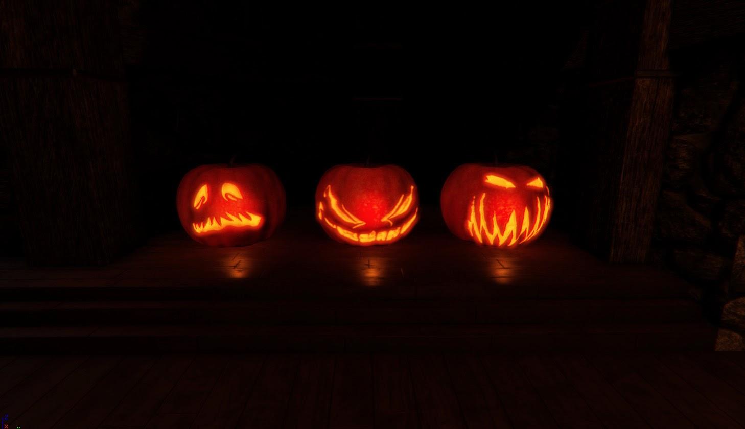 Pumpkin in the dark 1