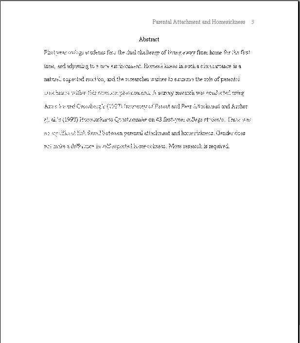 abstract page of a research paper
