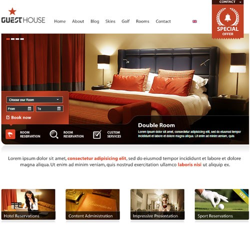 20+ Premium Hotel and Resort WordPress Themes and HTML Templates