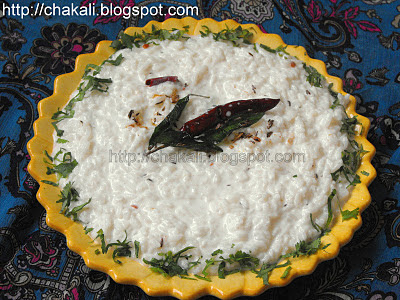 dahi bhat, curd rice, dahi butti, rice recipes, leftover rice recipes