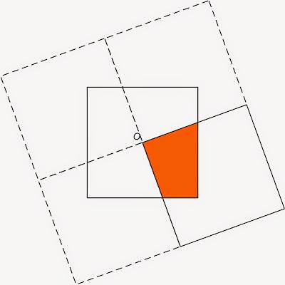 Решение головоломки про пересечение квадратов