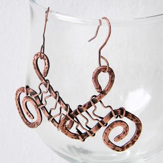 handmade украшения wire wrap подарок на медную свадьбу