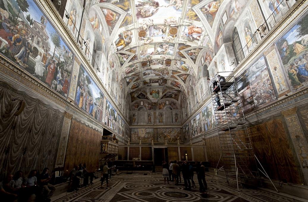 La chapelle sixtine de michel ange l 39 exposition notre montr alit - Michel ange chapelle sixtine plafond ...