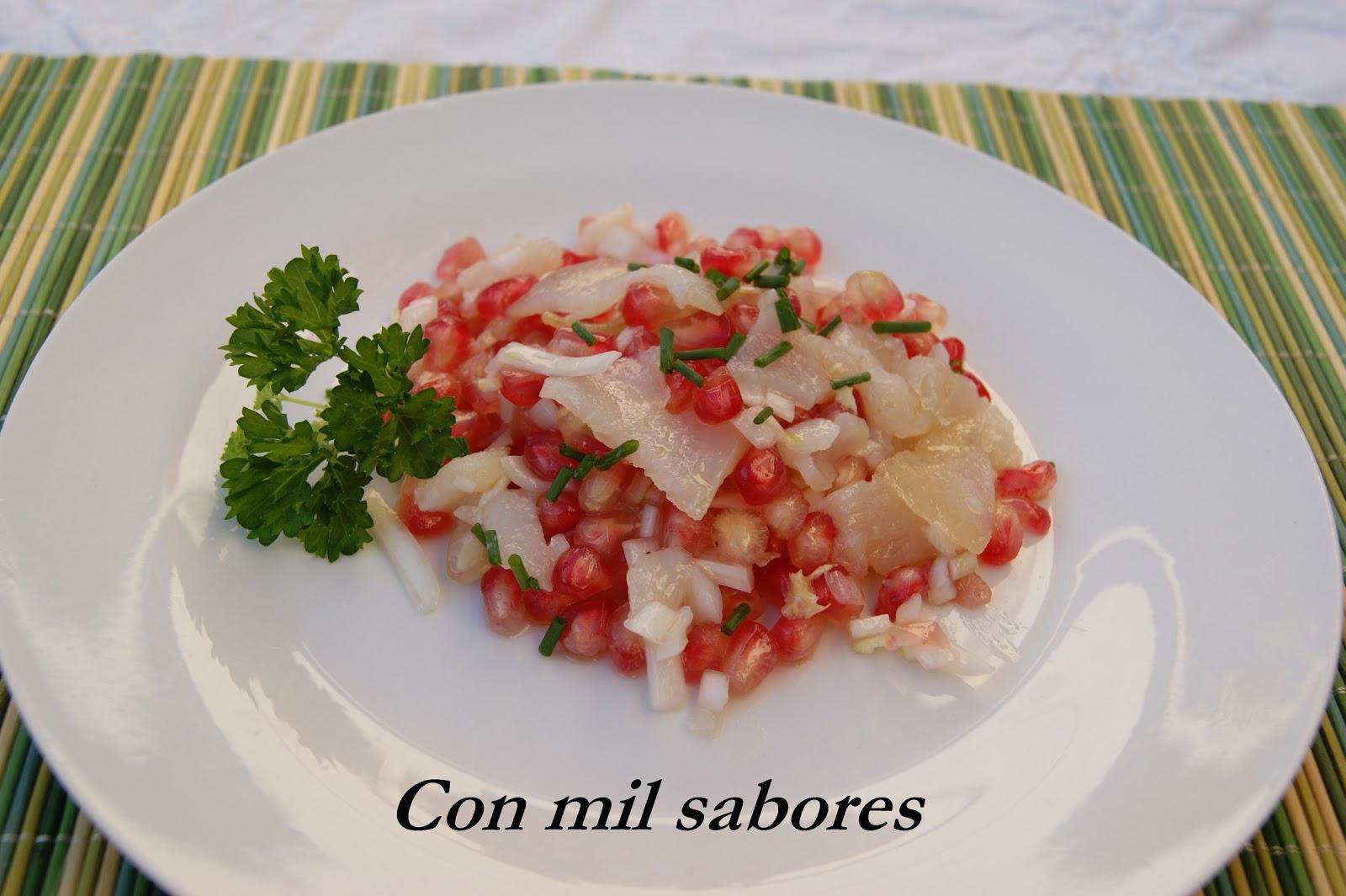 Curso Cocina Granada | Con Mil Sabores Ensalada De Bacalao Y Granadas