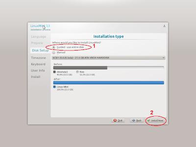cara dualboot linux mint windows