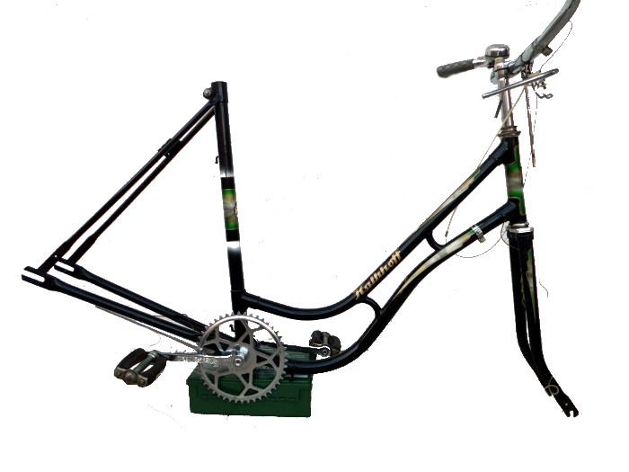 Kalkhoff Damenfahrrad Instandsetzung / Restaurierung - Rahmen mit Gabel, Lenker und Pedale