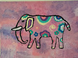 Un elefante colorido.