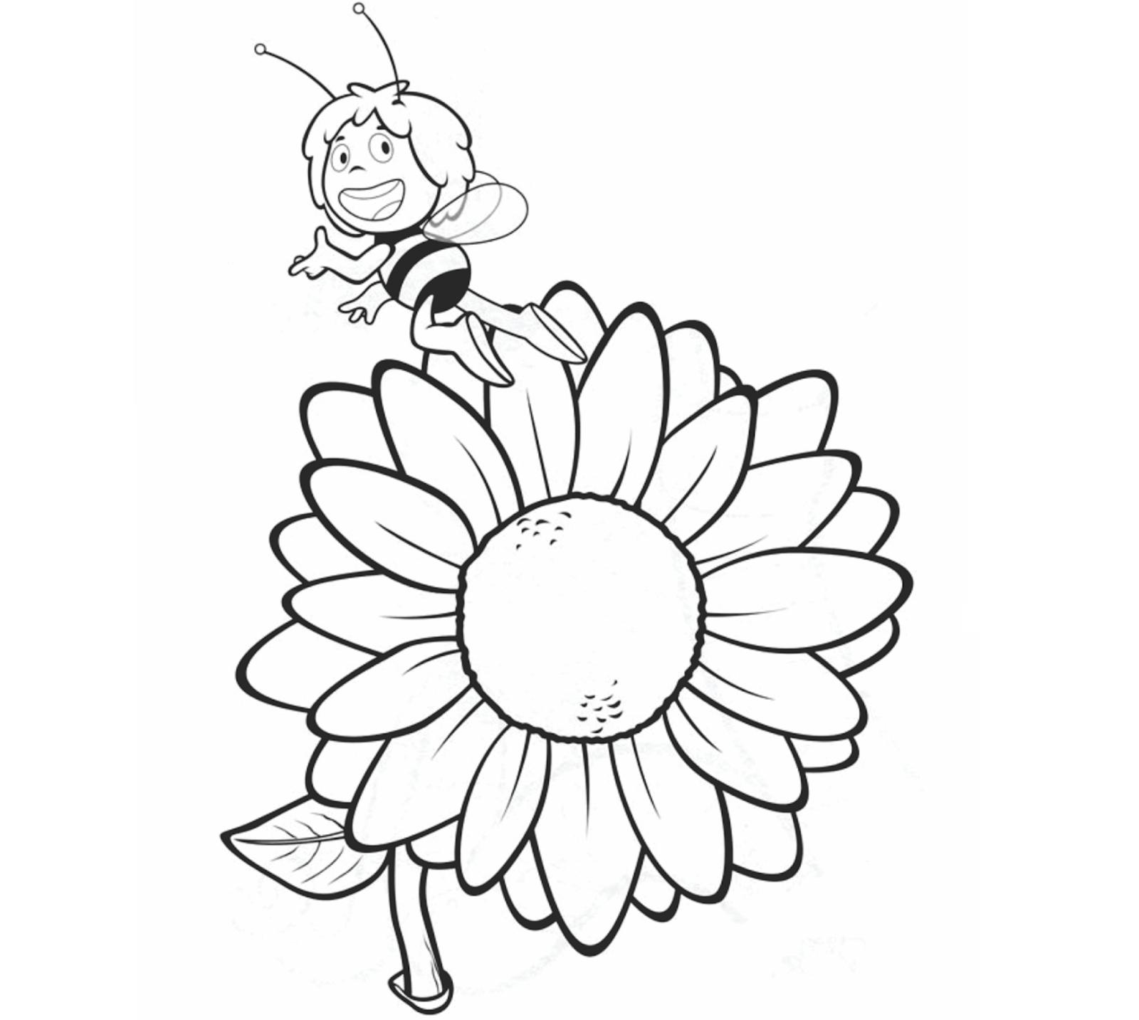 Maya the Bee Coloring Drawing Free wallpaper