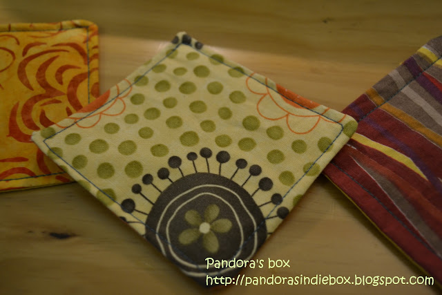 Handmade fabric coaster